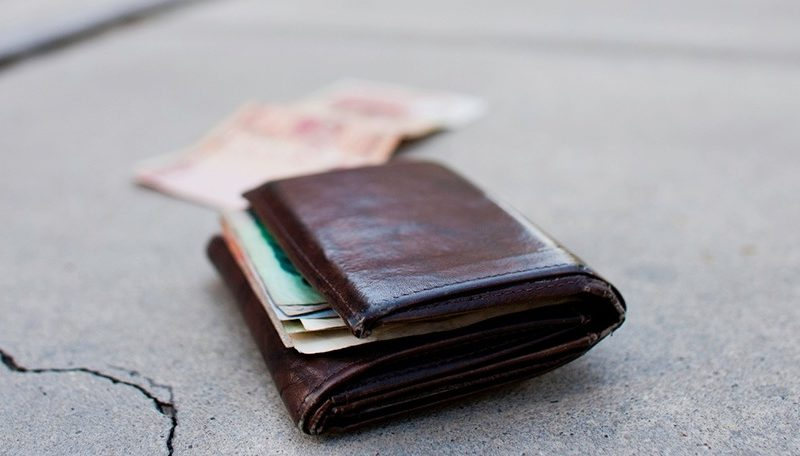 he perdido la cartera