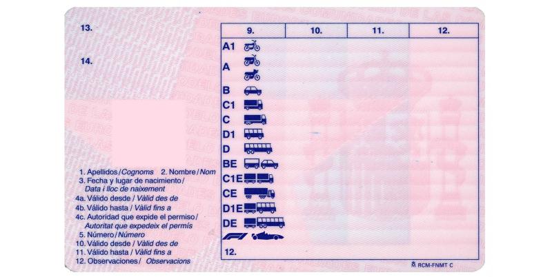 tipos de carnet de conducir